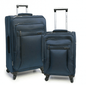 Perry Ellis luggage set - 2 suitcases in blue color